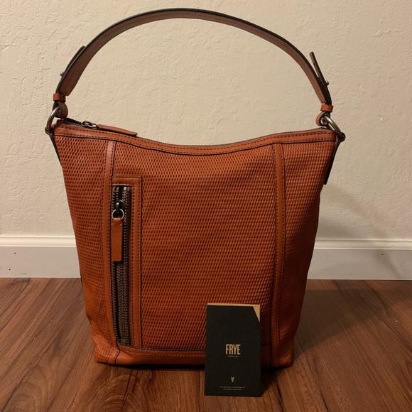 Frye Lena Leather Perforated Hobo Bag